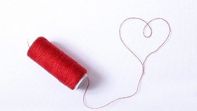 s-赤い糸のハート