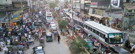 s-バングラデッシュの街並